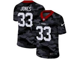 Mens Nfl Green Bay Packers #33 Aaron Jones 2020 Camo Vapor Untouchable Limited Nike Jersey