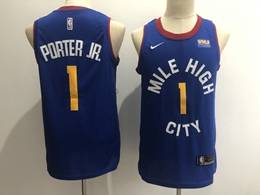 Mens Nba Denver Nuggets #1 Michael Porter Jr. Light Blue Swingman Nike Jersey