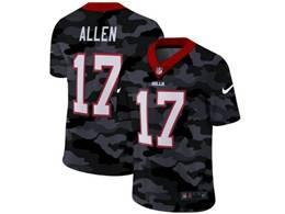 Mens Nfl Buffalo Bills #17 Josh Allen 2020 Nike Camo Salute To Service Limited Jersey
