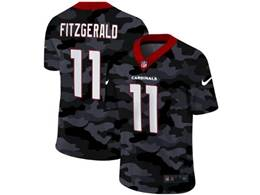 Mens Nfl Arizona Cardinals #11 Larry Fitzgerald 2020 Nike Camo Salute To Service Limited Jersey