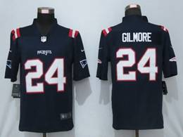 Mens Nfl New England Patriots #24 Stephon Gilmore Blue Game Nike Jersey