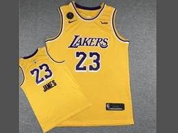 Mens Nba Los Angeles Lakers #23 Lebron James Yellow Kb Nike Swingman Round Neck Jersey