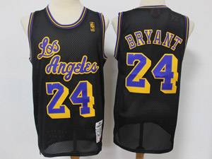 Mens Nba Los Angeles Lakers #24 Kobe Bryant Black Mitchell&ness Hardwood Classics Reload Swingman Mesh Jersey