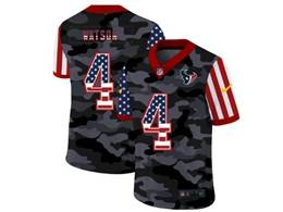 Mens Nfl Houston Texans #4 Deshaun Watson 2020 Nike Camo Usa Salute To Service Limited Jersey