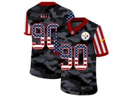 Mens Nfl Pittsburgh Steelers #90 T. J. Watt 2020 Nike Camo Usa Salute To Service Limited Jersey