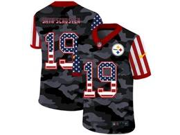 Mens Nfl Pittsburgh Steelers #19 Juju Smith-schuster 2020 Camo Usa Flag Salute To Service Limited Nike Jersey