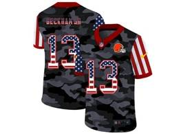 Mens Nfl Cleveland Browns #13 Odell Beckham Jr 2020 Camo Usa Flag Salute To Service Limited Nike Jersey