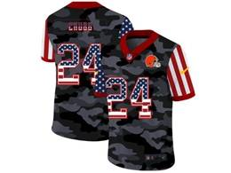 Mens Nfl Cleveland Browns #24 Nick Chubb 2020 Camo Usa Flag Salute To Service Limited Nike Jersey