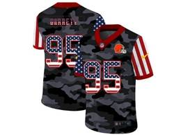 Mens Nfl Cleveland Browns #95 Myles Garrett 2020 Camo Usa Flag Salute To Service Limited Nike Jersey