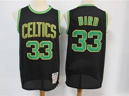 Mens Nba Boston Celtics #33 Larry Bird Black Hardwood Classics Reload Swingman Jersey