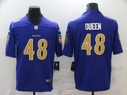 Mens Nfl Baltimore Ravens #48 Patrick Queen Purple Color Rush Vapor Untouchable Limited Jersey