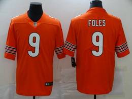 Mens Nfl Chicago Bears #9 Nick Foles Orange Vapor Untouchable Limited Player Nike Jersey