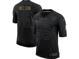 Mens Nfl Indianapolis Colts #56 Quenton Nelson Black Nike 2020 Salute To Service Limited Jersey