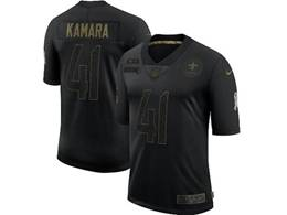 Mens Nfl New Orleans Saints #41 Alvin Kamara Black Nike 2020 Salute To Service Limited Jersey
