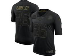 Mens Nfl New York Giants #26 Saquon Barkley Black Nike 2020 Salute To Service Limited Jersey