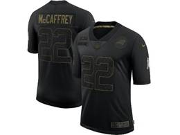 Mens Nfl Carolina Panthers #22 Christian Mccaffrey Black Nike 2020 Salute To Service Limited Jersey