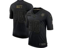 Mens Women Nfl Pittsburgh Steelers #90 T. J. Watt Black Nike 2020 Salute To Service Limited Jersey