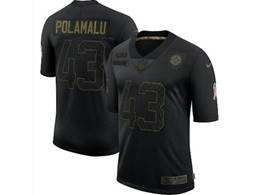 Mens Nfl Pittsburgh Steelers #43 Troy Polamalu Black Nike 2020 Salute To Service Limited Jersey