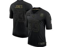 Mens Nfl Green Bay Packers #33 Aaron Jones Black Nike 2020 Salute To Service Limited Jersey
