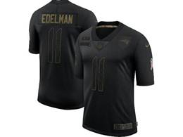 Mens Nfl New England Patriots #11 Julian Edelman Black Nike 2020 Salute To Service Limited Jersey