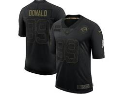 Mens Nfl Los Angeles Rams #99 Aaron Donald Black Nike 2020 Salute To Service Limited Jersey