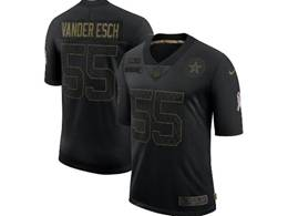 Mens Nfl Dallas Cowboys #55 Leighton Vander Esch Black Nike 2020 Salute To Service Limited Jersey