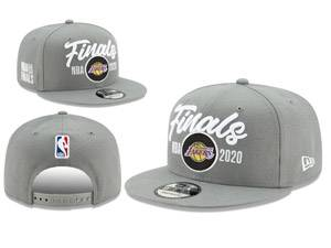 Mens Nba Los Angeles Lakers Gray 2020 Finals Snapback Adjustable Flat Hats