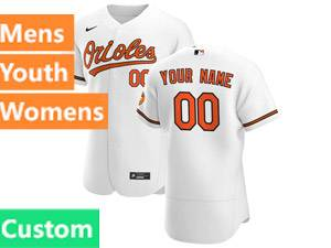Mens Baltimore Orioles Custom Made 2020 Home Nike White Flex Base Jersey