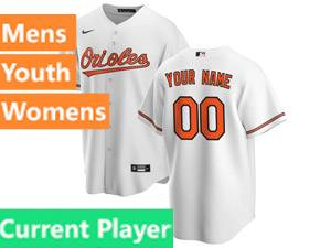 Mens Womens Youth Nike Baltimore Orioles White 2020 Cool Base Current Player Jersey