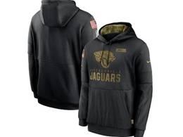 Mens Women Youth Nfl Jacksonville Jaguars Black 2020 Salute Pocket Pullover Hoodie Nike Jersey