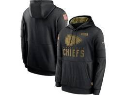 Mens Women Youth Nfl Kansas City Chiefs Black 2020 Salute Pocket Pullover Hoodie Nike Jersey