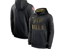 Mens Women Youth Nfl Buffalo Bills Black 2020 Salute Pocket Pullover Hoodie Nike Jersey