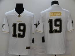 Mens Nfl Dallas Cowboys #19 Amari Cooper White Golden Vapor Untouchable Limited Nike Jersey