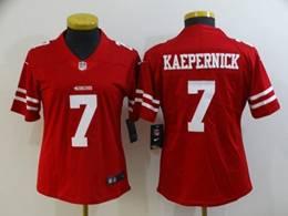 Women San Francisco 49ers #7 Colin Kaepernick Red Vapor Untouchable Limited Nike Jersey