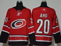 Mens Nhl Carolina Hurricanes #20 Sebastian Aho Red Adidas Player Jersey