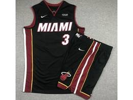 Mens Nba Miami Heat #3 Dwyane Wade Black Suit Swingman Nike Jersey