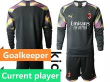 Baby 20-21 Soccer Ac Milan Club Current Player Black Goalkeeper Long Sleeve Suit Jersey