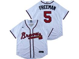 Mens Mlb Atlanta Braves #5 Freddie Freeman White Flex Base Nike Jersey