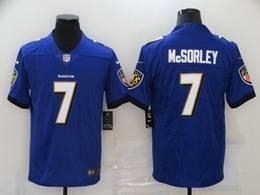 Mens Nfl Baltimore Ravens #7 Trace Mcsorley Purple Vapor Untouchable Limited Nike Jersey