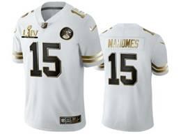 Mens Nfl Kansas City Chiefs #15 Patrick Mahomes White Golden 2020 Champion Vapor Untouchable Limited Jersey