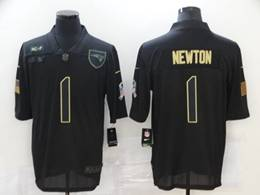 Mens Nfl New England Patriots #1 Cam Newton Black Nike 2020 Salute To Service Limited Jersey