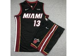 Mens Nba Miami Heat #13 Bam Adebayo Black Suit Swingman Nike Jersey