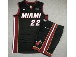 Mens Nba Miami Heat #22 Jimmy Butler Black Suit Swingman Nike Jersey