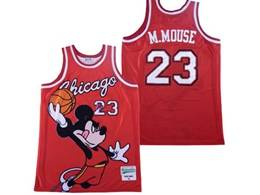 Mens Nba Chicago Bulls #23 Michael Jordan Red Mickey Mouse Jersey