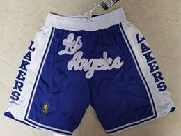 Mens Nba Los Angeles Lakers Blue Just Do Pocket Shorts