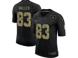Mens Nfl Las Vegas Raiders #83 Darren Waller Black Camo Number Nike 2020 Salute To Service Limited Jersey