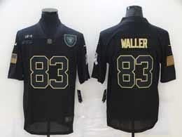 Mens Nfl Las Vegas Raiders #83 Darren Waller Black 2020 Nike Salute To Service Limited Jersey