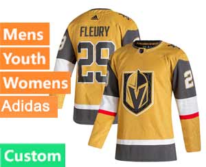 Mens Vegas Golden Knights Custom Made Gold 20-21 Alternate Adidas Jersey