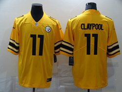 Mens Nfl Pittsburgh Steelers #11 Chase Claypool Yellow Inverted Legend Vapor Untouchable Limited Jersey