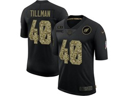 Mens Nfl Arizona Cardinals #40 Pat Tillman Black Camo Number Nike 2020 Salute To Service Limited Jersey